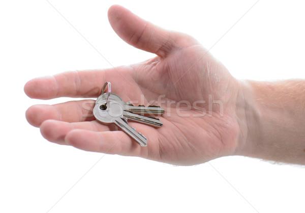 hand holding keys Stock photo © hyrons