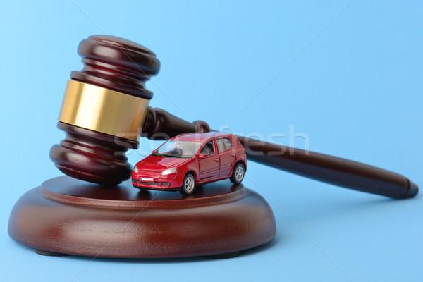 Araba hukuk sürücü anahtar çekiç yargıç Stok fotoğraf © hyrons