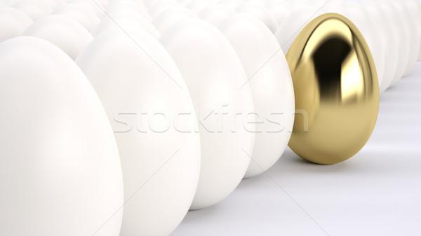 Aranytojás áll ki vezető üzlet absztrakt Stock fotó © hyrons