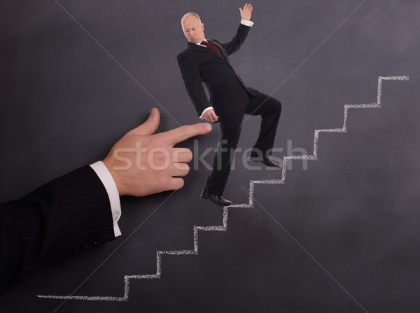 businessman push Stock photo © hyrons