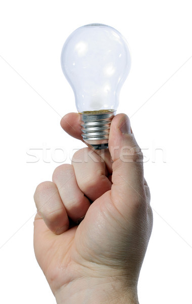 holding light bulb Stock photo © hyrons