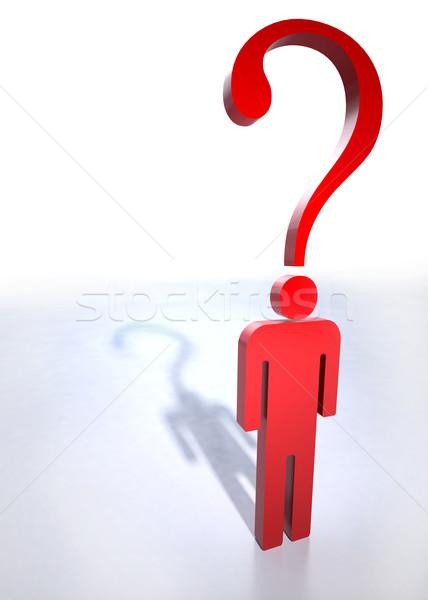 Сток-фото: вопросе · человека · мышления · проблема · головоломки · выбора