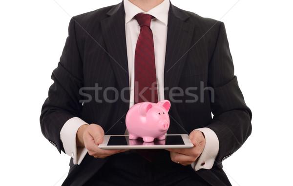 Sikke banka uygulaması para dijital yaş Stok fotoğraf © hyrons