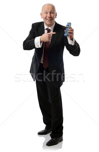 Hívás mobil portré képernyő beszéd gyűrű Stock fotó © hyrons