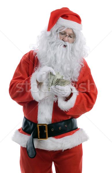 Maliyet Noel dolar yalıtılmış beyaz Stok fotoğraf © hyrons