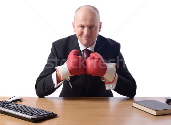Işadamı kavga stok görüntü kişi Stok fotoğraf © hyrons