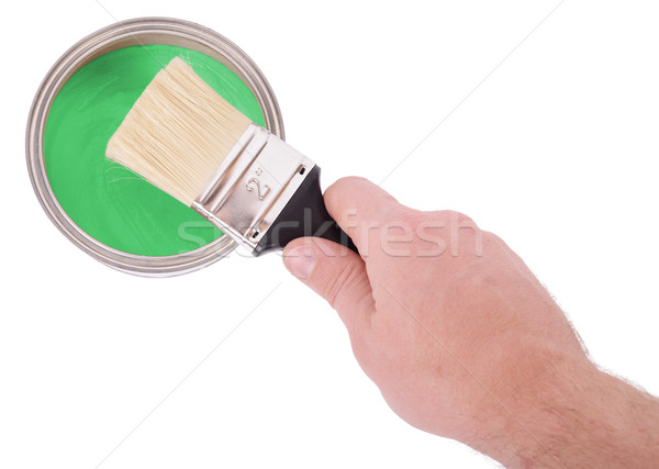 Boyama pot el fırçalamak boya Stok fotoğraf © hyrons