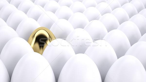 Altın yumurta ayakta dışarı kalabalık finanse yumurta Stok fotoğraf © hyrons