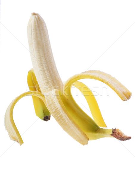 Open banaan geïsoleerd witte voedsel natuur Stockfoto © hyrons