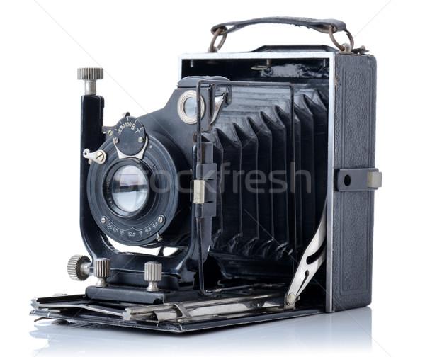Eski fotoğraf makinesi eski yalıtılmış beyaz görüntü yakın çekim Stok fotoğraf © hyrons
