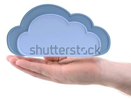 hand holding cloud Stock photo © hyrons
