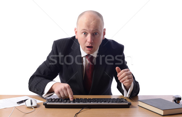 businessman shocked Stock photo © hyrons