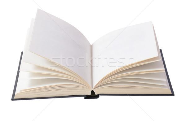 Açık kitap yalıtılmış beyaz okul eğitim hukuk Stok fotoğraf © hyrons