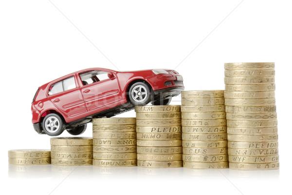Araba para kırmızı tırmanma yukarı grafik Stok fotoğraf © hyrons