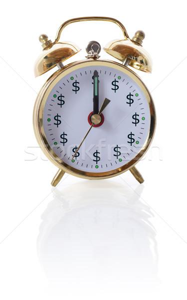 Vakit nakittir eski çalar saat dolar semboller zaman Stok fotoğraf © hyrons