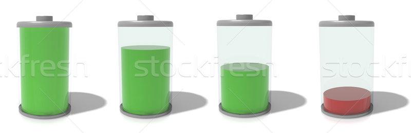 Tok boş yalıtılmış beyaz yeşil enerji Stok fotoğraf © hyrons