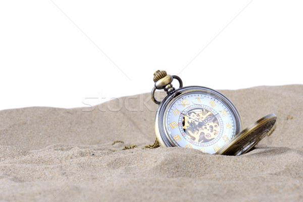 Stock photo: clock in sand