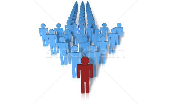 Pijl leider business Rood hoofd geïsoleerd Stockfoto © hyrons