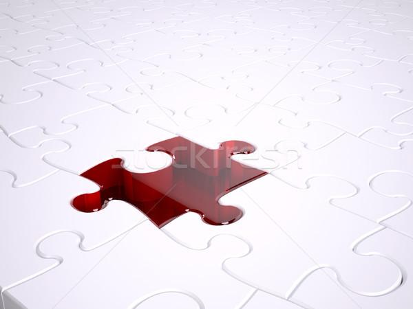 Red jigsaw Stock photo © hyrons