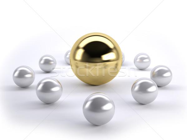 Altın lider altın top çok gümüş Stok fotoğraf © hyrons