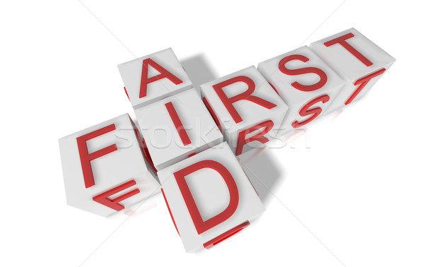 Elsősegély kockák helyesírás fehér orvosi gyógyszer Stock fotó © hyrons