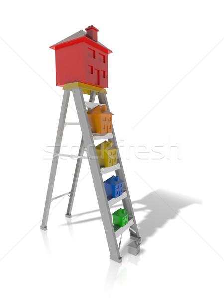 özellik merdiven hareketli yukarı yatırım Stok fotoğraf © hyrons