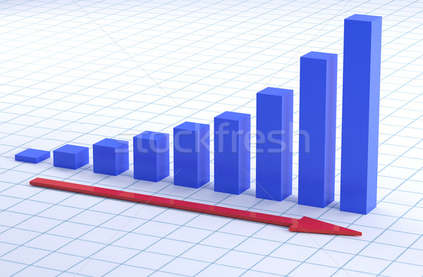growth chart Stock photo © hyrons