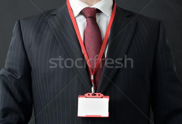 Benim ad adam takım elbise Stok fotoğraf © hyrons