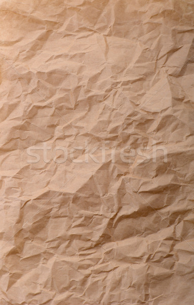 crinkeled brown paper Stock photo © hyrons