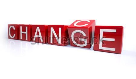 Değiştirmek kırmızı beyaz fotoğrafçılık strateji Stok fotoğraf © hyrons
