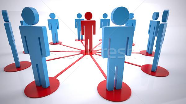 Netwerk mensen groep mensen business vergadering team Stockfoto © hyrons