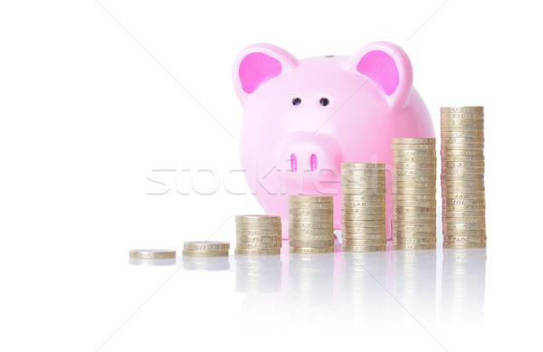 piggy bank coin chart Stock photo © hyrons