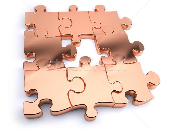 copper jigsaw Stock photo © hyrons