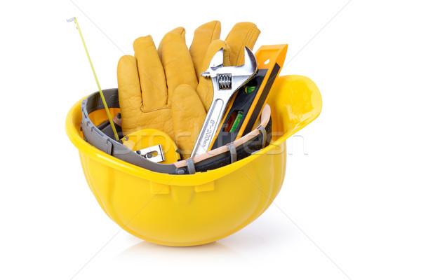 Inşaat araçları hazır çalışmak yalıtılmış Stok fotoğraf © hyrons