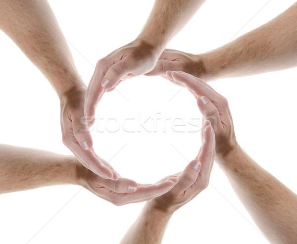 El daire eller çerçeve grup Stok fotoğraf © hyrons