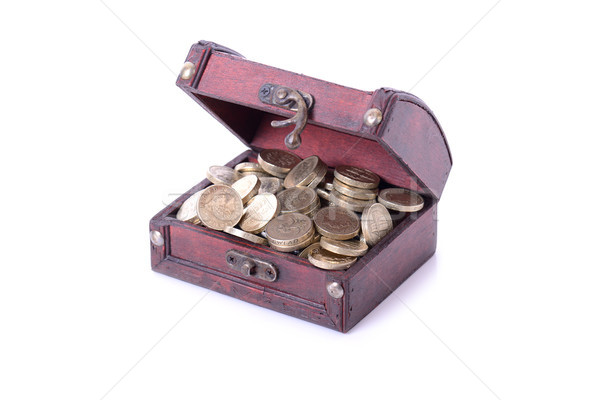 Pound madeni para hazine sikke Stok fotoğraf © hyrons