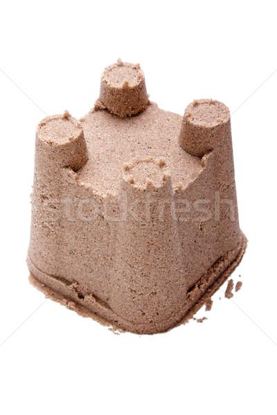 двухуровневый стробирующий импульс лет замок песчаный пляж модель Сток-фото © ia_64