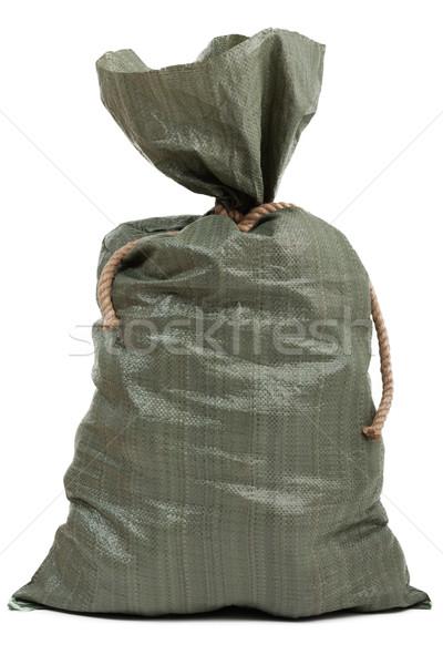 Tele zsák táska kötél csomó zsákvászon Stock fotó © ia_64