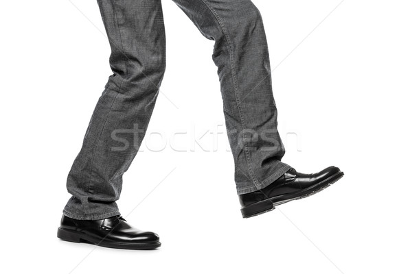 Man in shoes walking step Stock photo © ia_64