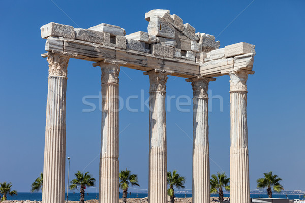 Ancient Apollo temple columns at Turkey Side Stock photo © ia_64