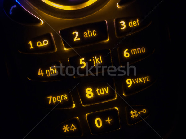 Mobile phone keypad Stock photo © ia_64