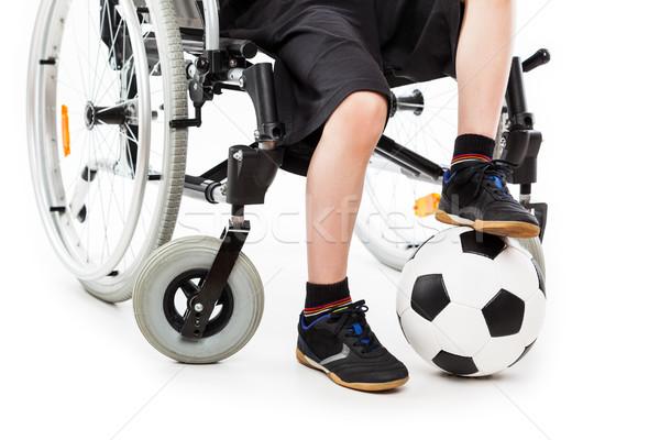 Disabili bambino ragazzo seduta sedia a rotelle Foto d'archivio © ia_64