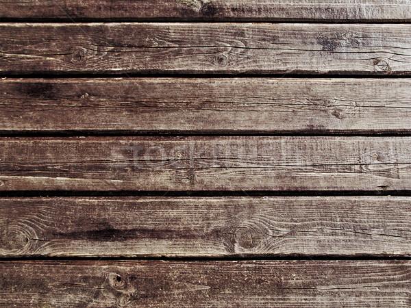 Drewna brązowy wzór deska ściany Zdjęcia stock © ia_64