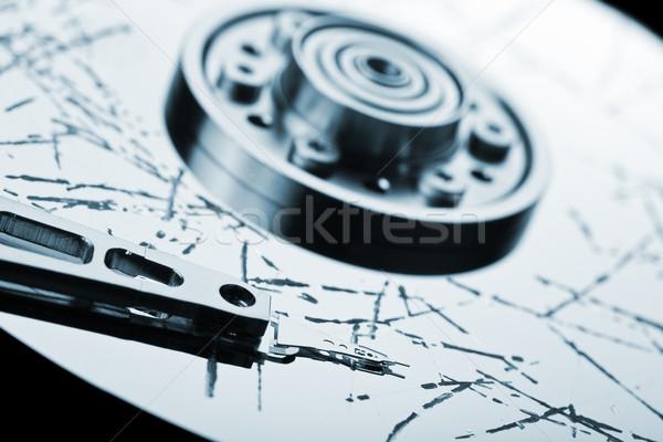Kırık zor veri kayıp bilgi depolama Stok fotoğraf © ia_64