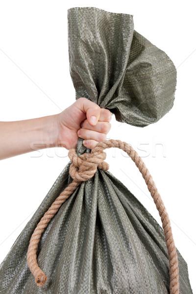 Hand holding sack bag Stock photo © ia_64