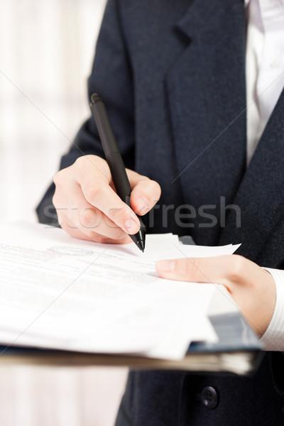Toll ír üzlet irat emberi üzletemberek Stock fotó © ia_64