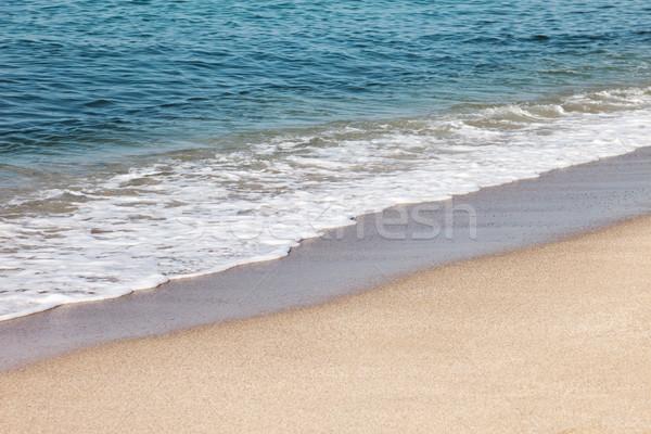 Kék tenger homok tengerpart nyár nyaralások Stock fotó © ia_64
