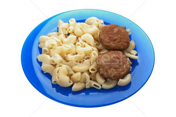 Makaróni étel hús sült vacsora étel Stock fotó © ia_64