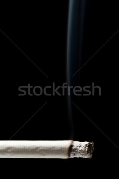курение сигарету зависимость черный изолированный бумаги Сток-фото © ia_64