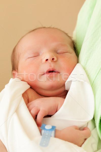 Aranyos alszik újszülött baba gyermek anya Stock fotó © ia_64